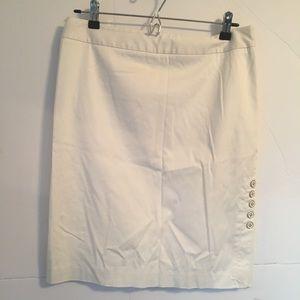 WHBM white straight skirt